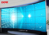 China 55 Inch Curved Video Wall 1.7mm Bezel HDMIx2 Anti Glare Surface Flexible Structure factory