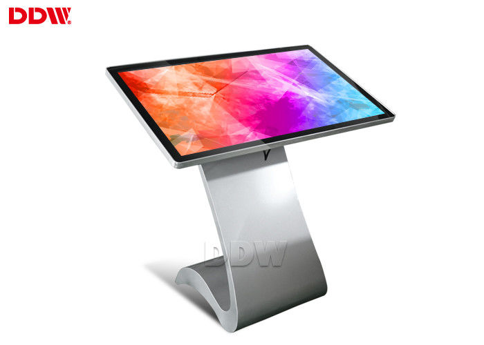 Stand Alone 55 Inch Touch Screen Information Kiosk Hire App / Wifi / Software Control