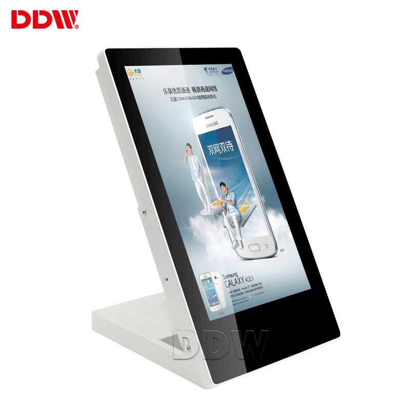 700 Nits Touch Screen Digital Signage 15.6'' Table Top Advertising Display For Cafe