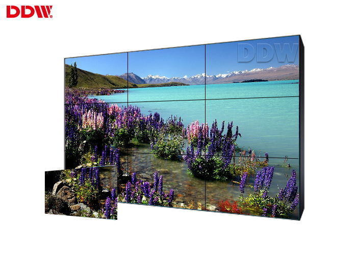 RS232 Port Wireless Commercial Video Wall Beautiful Wall Structure Design