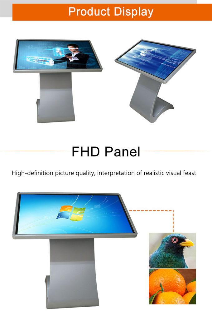 Stand Alone 55 Inch Touch Screen Information Kiosk Hire App
