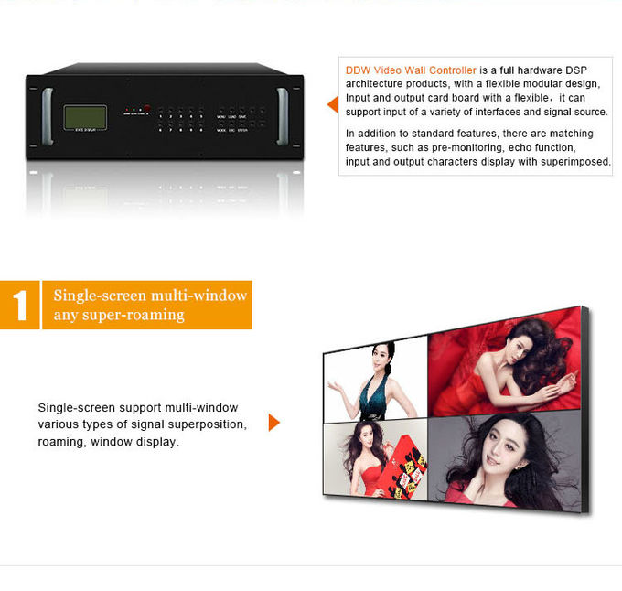 Full Screen Display Video Wall Controller Android 12x12 Multi HDMI Remote Controller