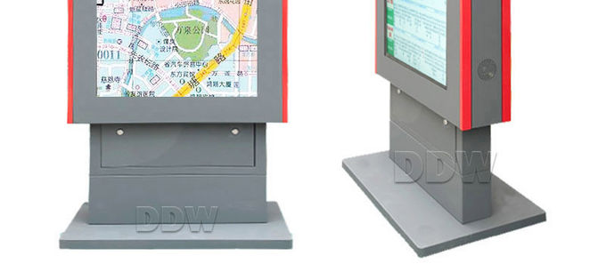 Waterproof Lcd External Digital Signage Display 16 / 9 Contrast Ratio For Entertainments